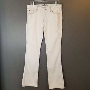 7 for all mankind flare a pocket jeans 34.5 inseam